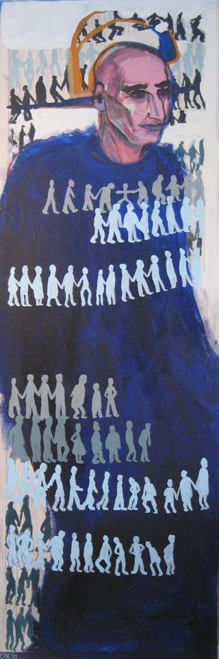L Homme Bleu 2010 150x50cm